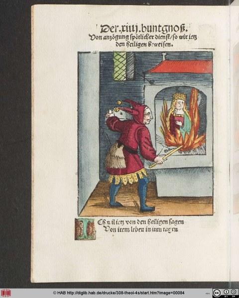 Bild aus einer mittelalterlichen Handschrift