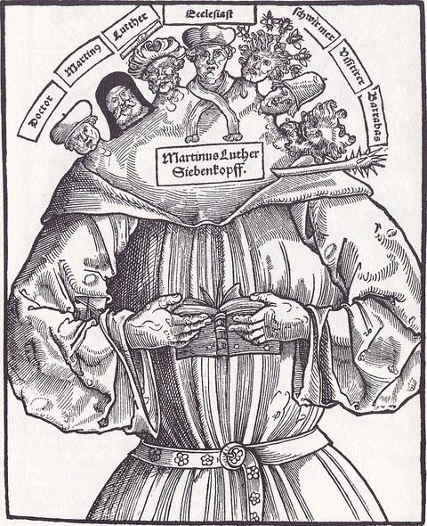 Bild von Luther mit 7 Köpfen