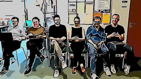 Foto der Mitarbeiterinnen und Mitarbeiter von Projekt P