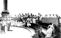 Bild Cicero im Senat, schwarzweiß