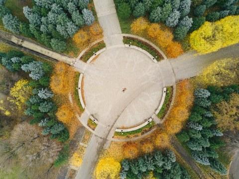 Luftansicht Kreisplatz