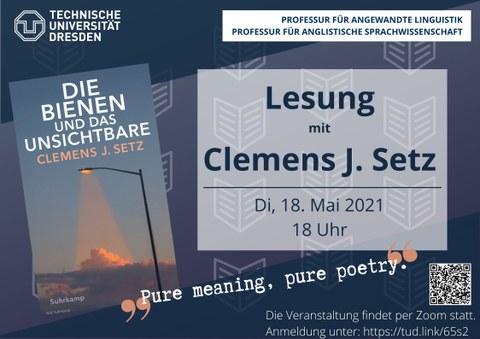 Lesung mit Clemens J. Setz