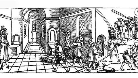Erhard Schön: Klage der Heiligenbilder