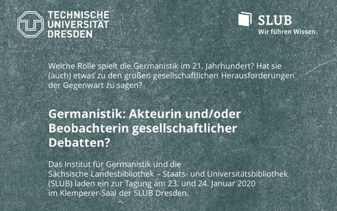 Plakat politische Germanistik