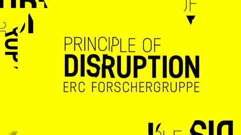 "Logo der ERC-Forschergruppe ""The Principle of Disruption"""