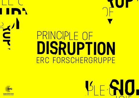 "Logo der ERC-Forschergruppe ""The Principle of Disruption"""