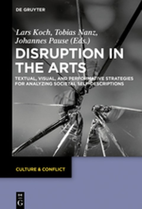 "Cover des Buches ""Disruption in the Arts"", Berlin/Boston 2018"