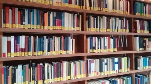 Bücherregal im Lesesaal