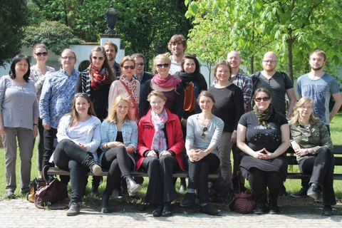 Unsere Reisegruppe mit Prof. Pigon und Dr. Ochmann
