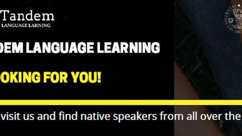 Plakatausschnitt für Tandem Language Learning