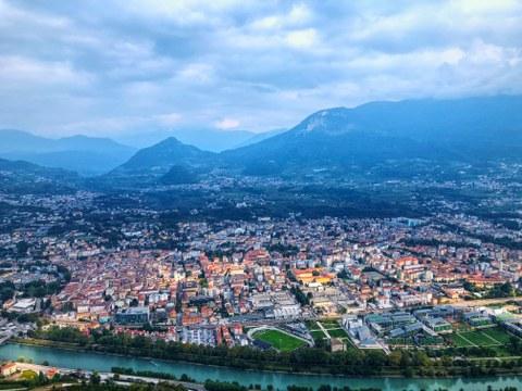Blick über die Stadt Trento