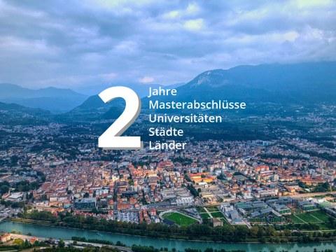 Blick über Trento, 2 Jahre 2 master