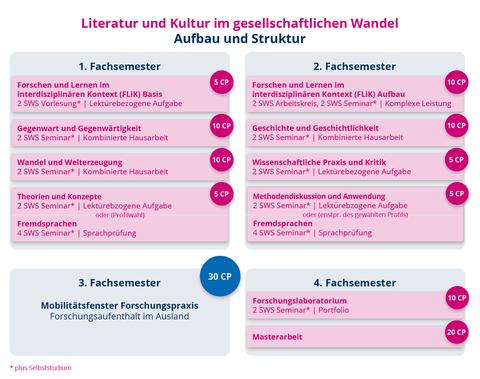 Aufbau und Struktur des Masterstudiengangs Literatur und Kultur im gesellschaftlichen Wandel