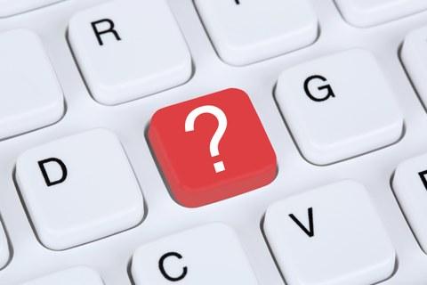 Tastatur mit Fragezeichen