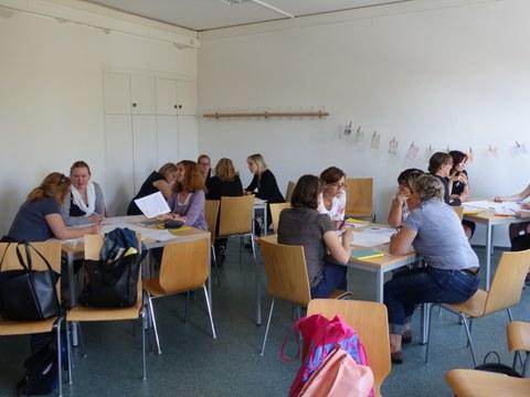 (angehende) Lehrer_innen im Workshop
