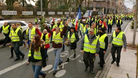 Foto von Thomas Bresson auf wikimedia.org - Proteste von Gelbwesten in Frankreich