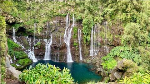 Wasserfall auf La Réunion