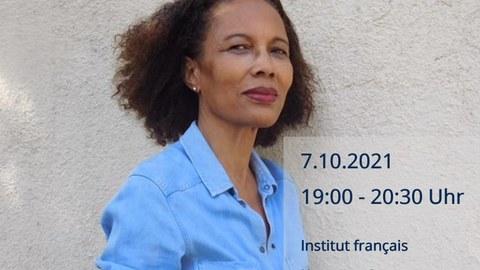 Plakat zur Lesung Yanick Lahens (Haiti) am 7.10.21