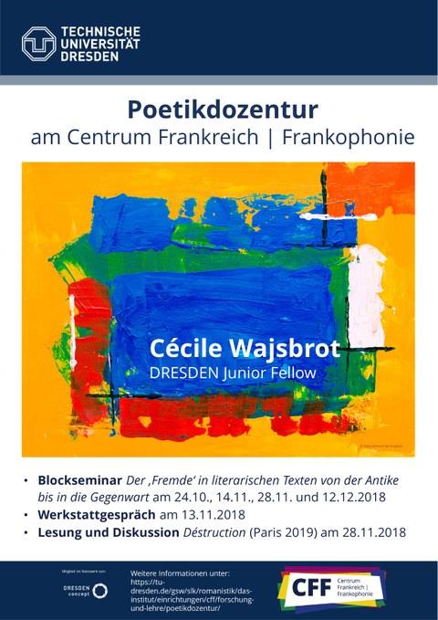 Programm Poetikdozentur WiSe 2018/19