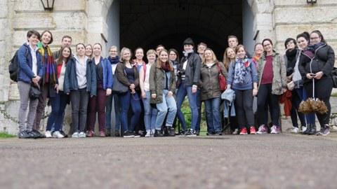 Teilnehmer:innen der studentischen Exkursion von Prof. Böhm im Mai 2018 nach Besançon in Frankreich