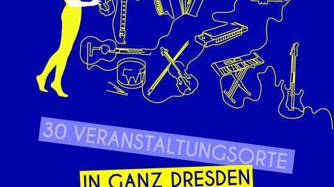 Plaktat zur Ankündigung der Fête de la Musique 2019 in Dresden