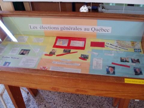 Kanada-Québec-Woche am Cifraqs 2003: Ausstellungsvitrine.