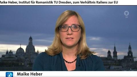 Maike Heber in der Nachrichtensendung von tagesschau24
