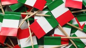 kleine italienische Flaggen
