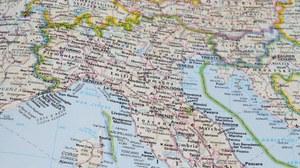 Landkarte Norditalien