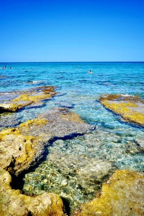 Baia dei Turchi Meer Apulien