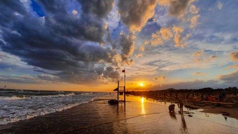 Bibione Strand Meer Italien