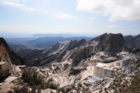 Carrara Steinbrüche Marmor