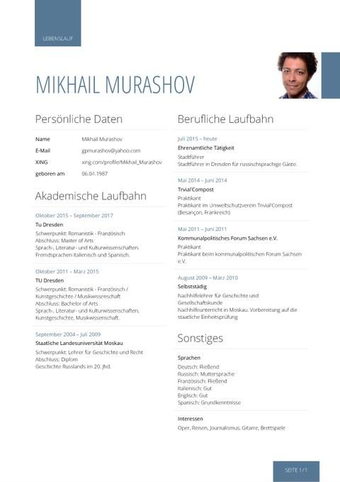 Lebenslauf von Mikhail Murashov