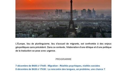 Plakat Internationales Kolloquim INALCO, Paris, 7.-9.12.2017
