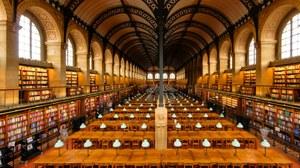 Bibliothèque Sainte-Geneviève, Paris, Salle de lecture vue de la galerie est By Marie-Lan Nguyen - Own work, CC BY 2.0 fr, https://commons.wikimedia.org/w/index.php?curid=14961970