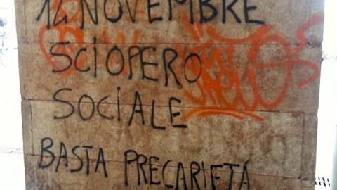Basta Precarietà, Graffiti, Trento (Italien)