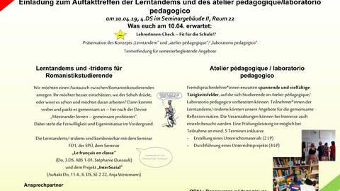 Romanistik Lerntandem Atelier pédagogique_1