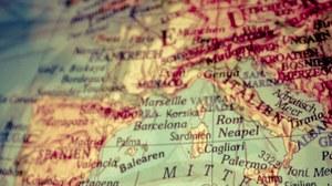 Landkartenausschnitt Europa