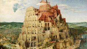 Pieter Bruegel der Ältere: Der Turmbau zu Babel, 1563, Öl auf Eichenholz, 114 x 155 cm, Kunsthistorisches Museum, Wien.