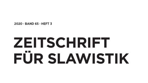 Zeitschrift für Slawistik 2020