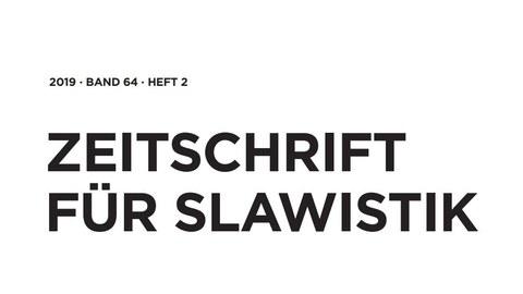Zeitschrift für Slavistik