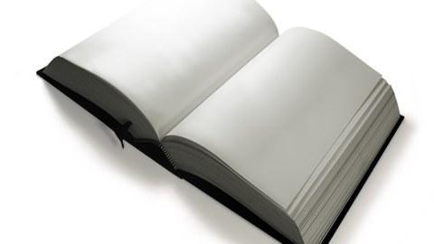 Buch leer