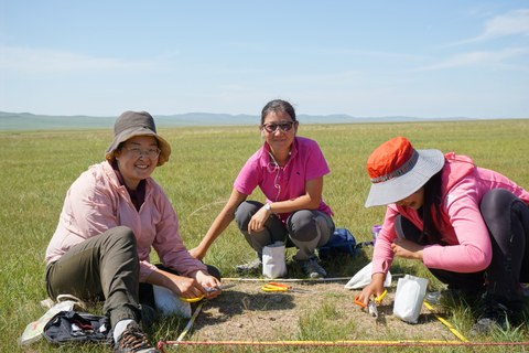 Students on a research trip in Mongolia