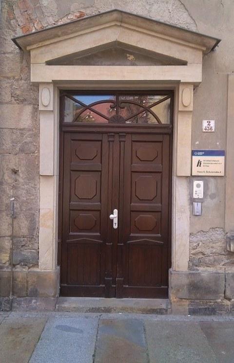 Eingang der Professur