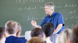 Foto einer Lehrveranstaltung an der Professur für Produktionswirtschaft und Informationstechnik