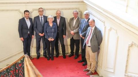 Die Leitung der Andrassy-Universität zusammen mit der Delegation aus Zittau
