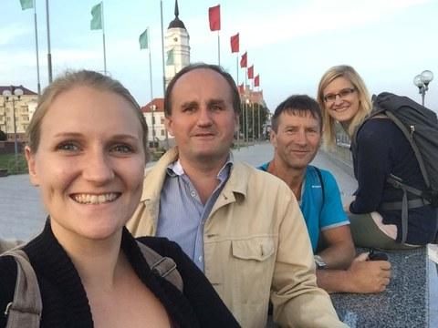 Die Zittauer Studentinnen mit den Dozenten aus Mogilev und Pardubice