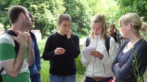 Studierende auf Exkursion
