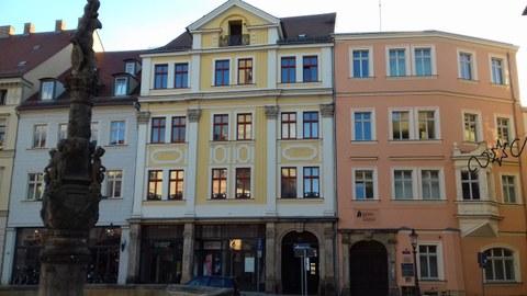 Blick auf die Gebäude der IHI
