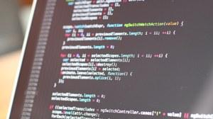 Bildschirm mit Codeabbildung